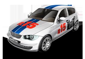 Машина с шинами R15