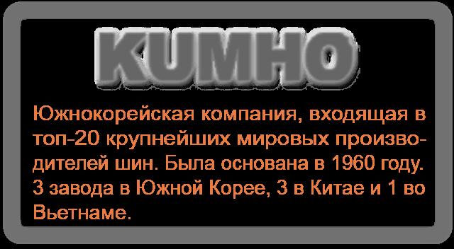 Шины Kumho (Резина Кумхо)