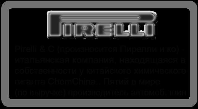 Шины Pirelli (Резина Пирелли)