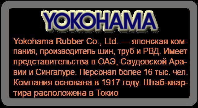 Шины Yokohama (Резина Екогама)